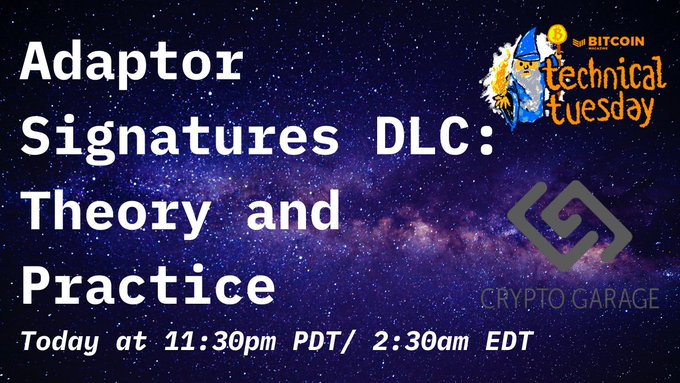 Technical Tuesday Carrot Code: Adaptor Signatures DLC: Theory and Practice