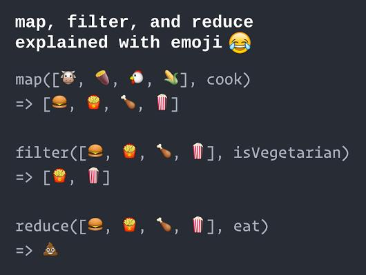 map filter reduce in emoji