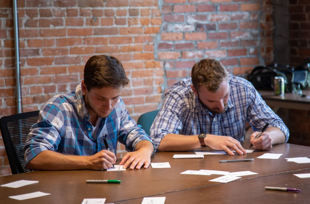 students learning user experience design