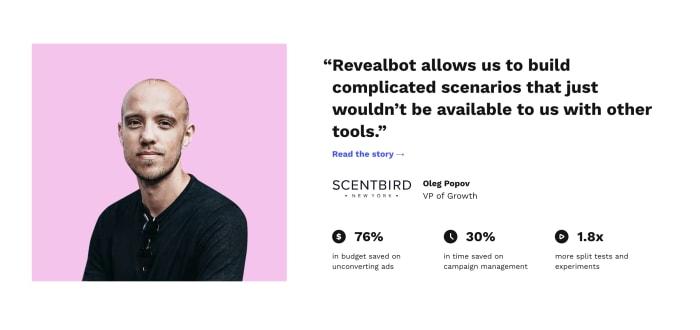 Revealbot  screenshot