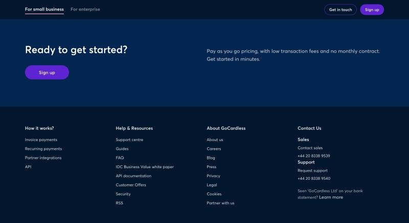 GoCardless  screenshot