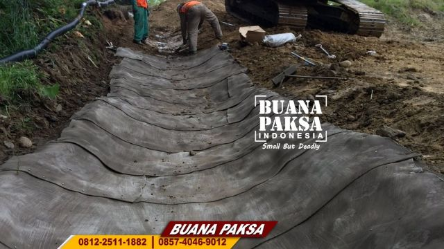 Jasa Pemasangan Kain Beton Concrete Canvas Kraksaan