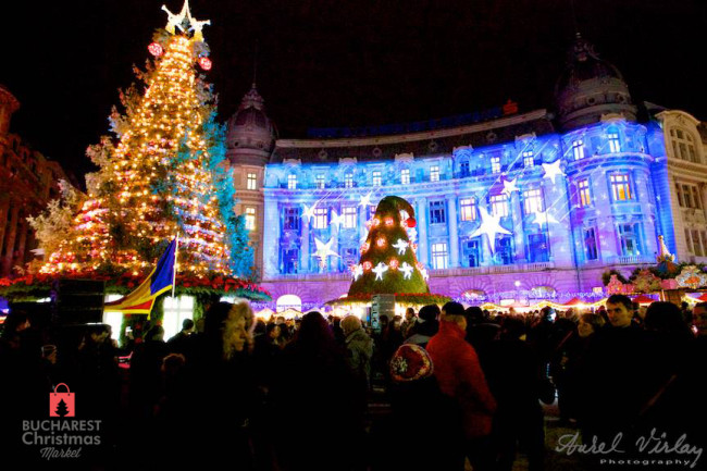 "alt=""Bucharest Christmas Market Tree"""