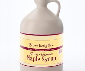 Pure Vermont Grade A Dark Robust Maple Syrup Jug
