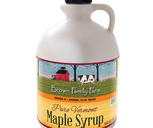 Pure Vermont Grade A Amber Rich Maple Syrup Jug