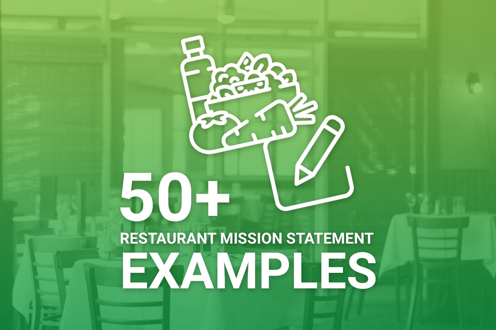 Restaurant Mission Statement Examples
