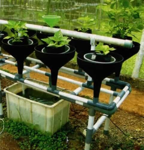 sistim penyiraman hidroponik