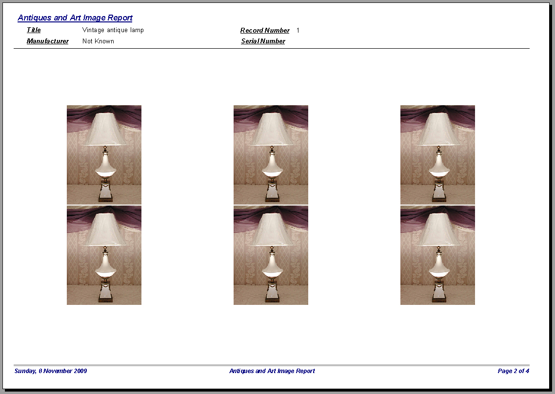Art Antiques Cataloging Database Software CDROM for Windows