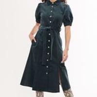 Louche Lindsay Babycord Green Dress