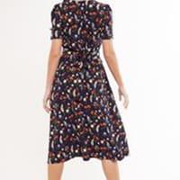 Louche Avril Flower Mix Navy Dress 2