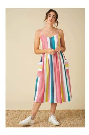 Bree Summer Rainbow Stripe Dress