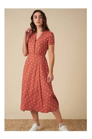 Adele Desert Rose Dot Dress