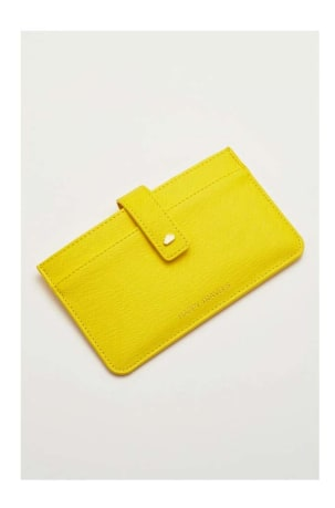 Yellow Travel Wallet