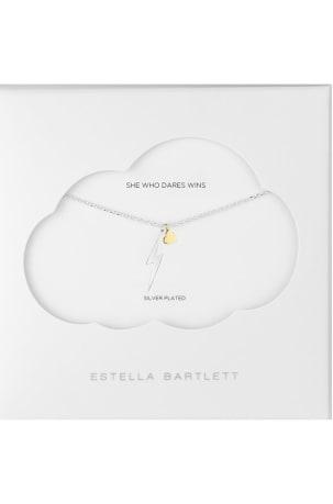Estella Bartlett Heart and Lightning Necklace