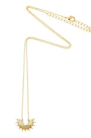Estella Bartlett Half Sunburst Necklace