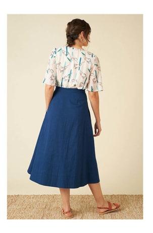 Brianna Ink Blue Skirt