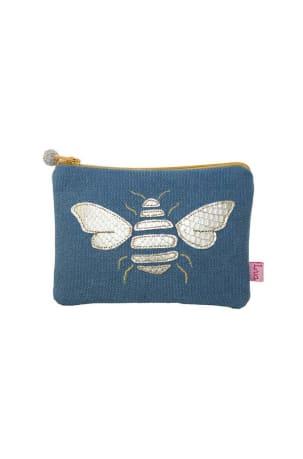 Blue Bee Coin Purse