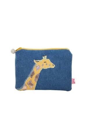 Blue Giraffe Coin Purse