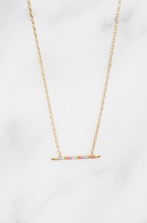 Rainbow Linear Necklace