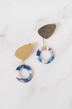 Freda Blue Earrings
