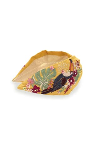 Mustard Toucan Embellished Headband