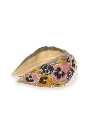 Pansy Stone Embellished Headband