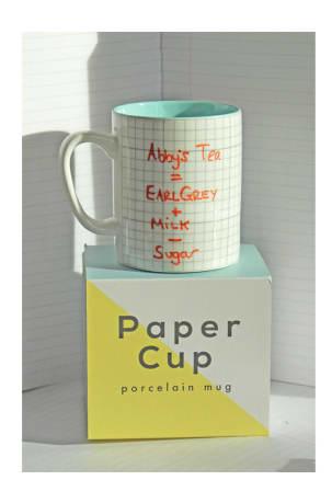 Graph Paper Cup Porcelain Mug