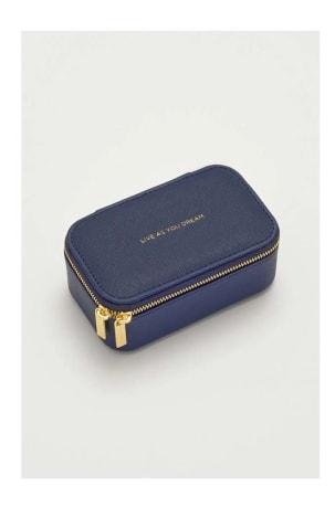 Navy Mini Jewellery Box