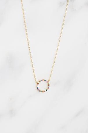Rainbow Circle Necklace