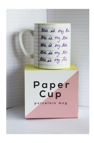 Paper Cup Porcelain Mug