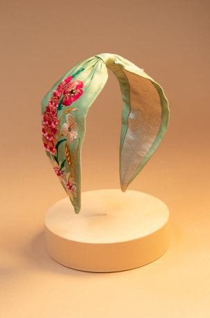 Embroidered-Headband-Country-Garden-Mint