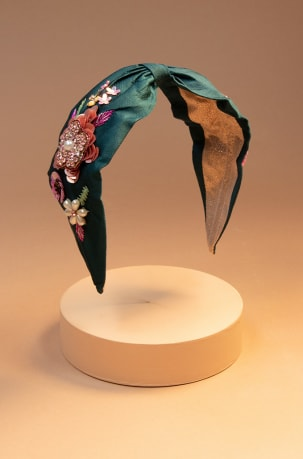 Embroidered-Floral-Headband-Teal