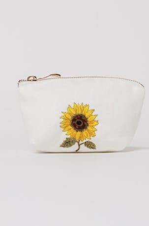 elizabeth scarlett white sunflower coin purse