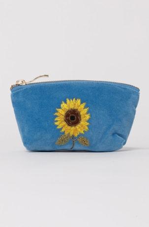 elizabeth scarlett blue sunflower coin purse