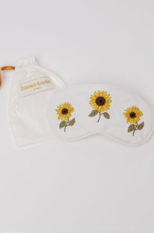 elizabeth scarlett white sunflower eyemask
