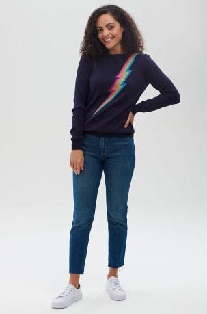 Sugarhill Rita Jumper in Lurex Rainbow Flash