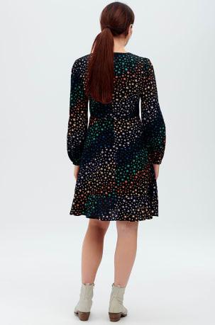 Juliette Black Star Waves Fit & Flare Dress
