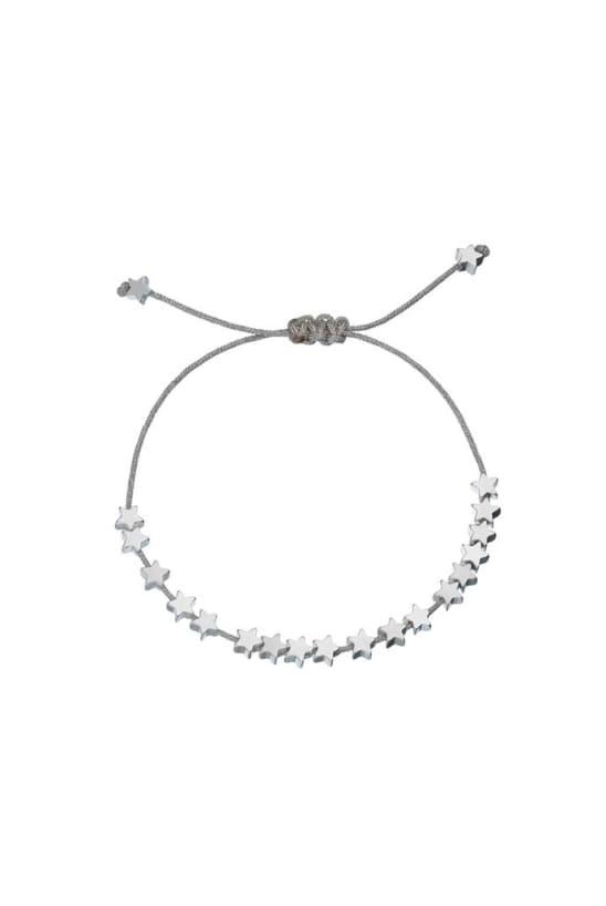 'Stars So Bright' Silver Plated Friendship Bracelet