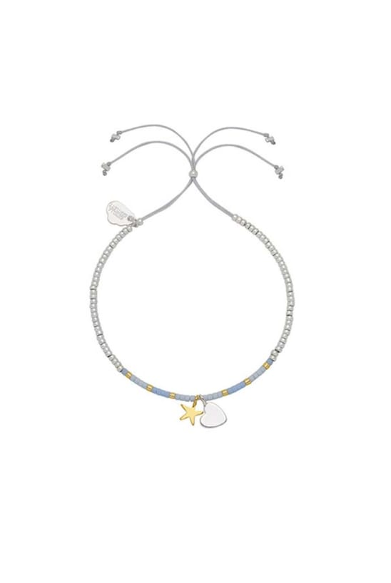 Heart and Star Liberty Silver and Gold Plated Bracelet