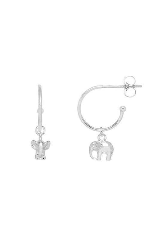 Elephant Drop Silver Plated Earrings