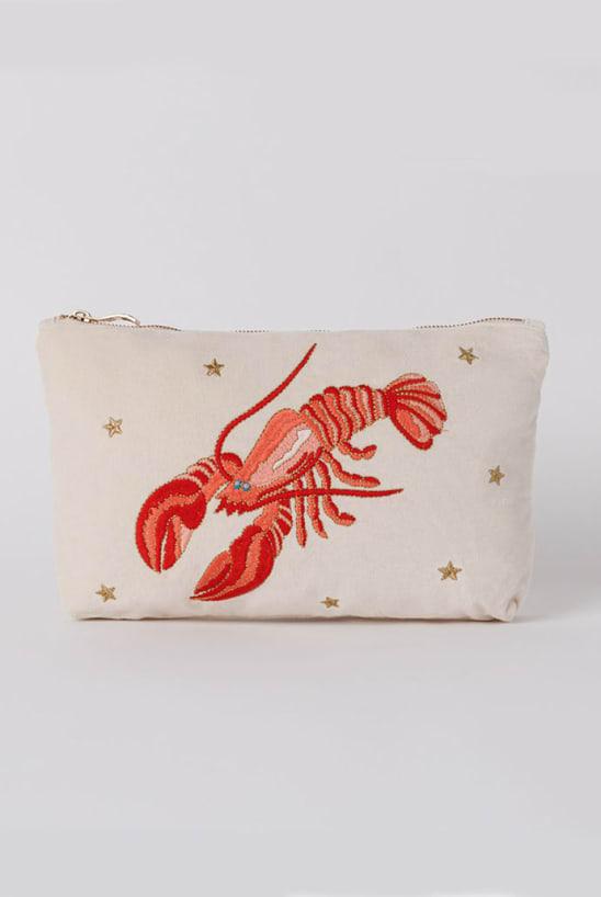 Lobster Pearl Velvet Everyday Pouch