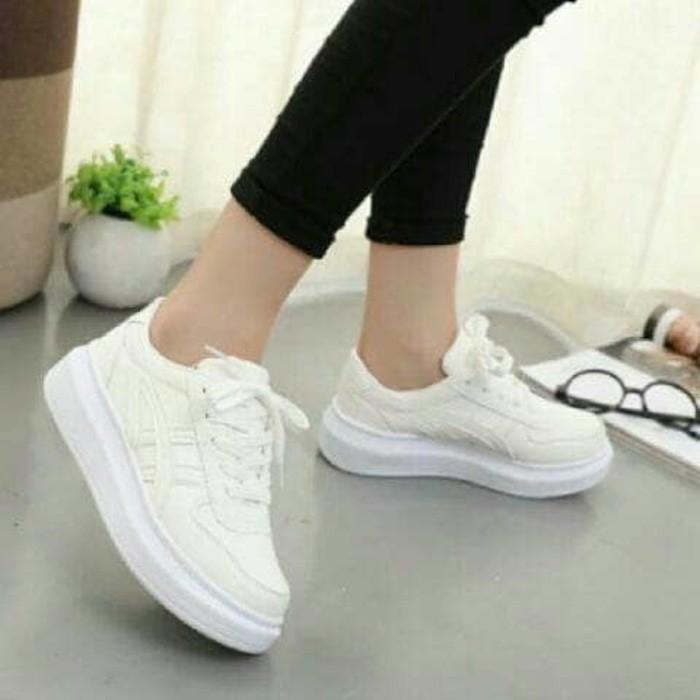 jual Sepatu Wanita Kets Sneakers Casual SDS199 - BIRU PINK, 37
