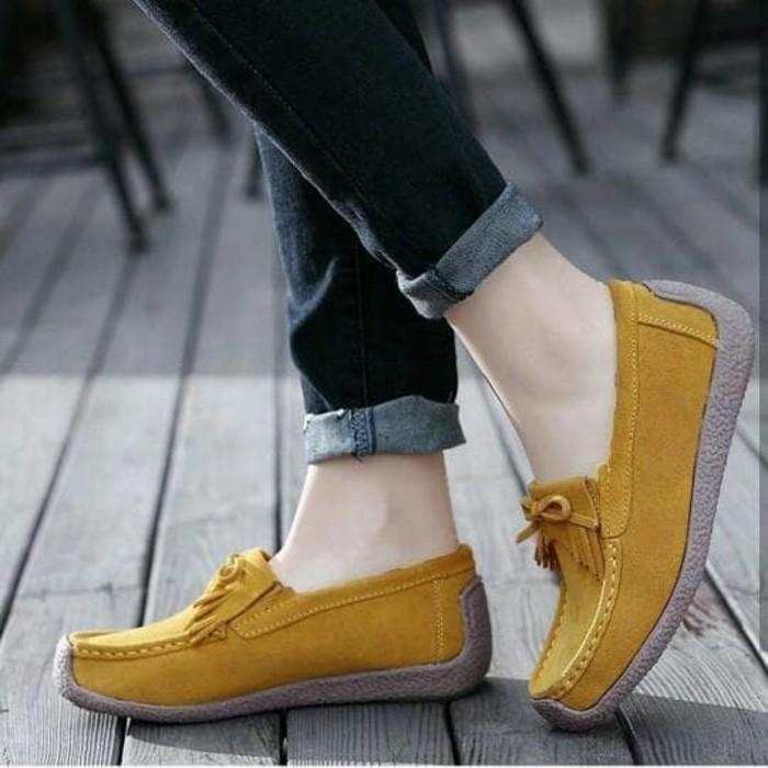 jual Sepatu Wanita Flat Shoes Wanita SDB94 Tan