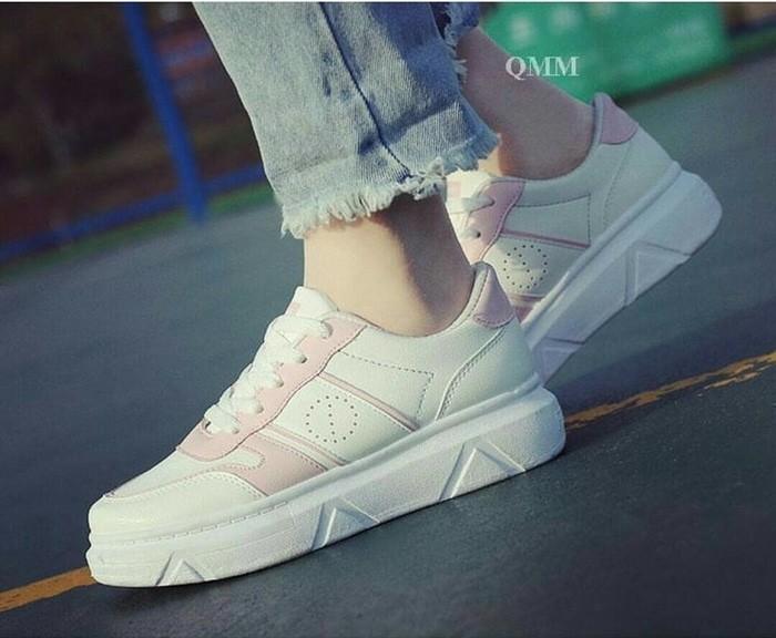 jual Sepatu Wanita Kets Casual SDS223 Pink