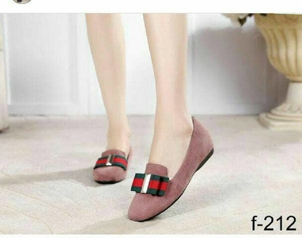 jual Sepatu Wanita Flat Shoes Abiya SDB96 Pink