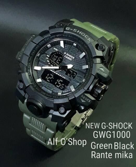 jual Jam tangan Casio pria/Cowok NEW G SHOCK G Shock GWG1000 green black