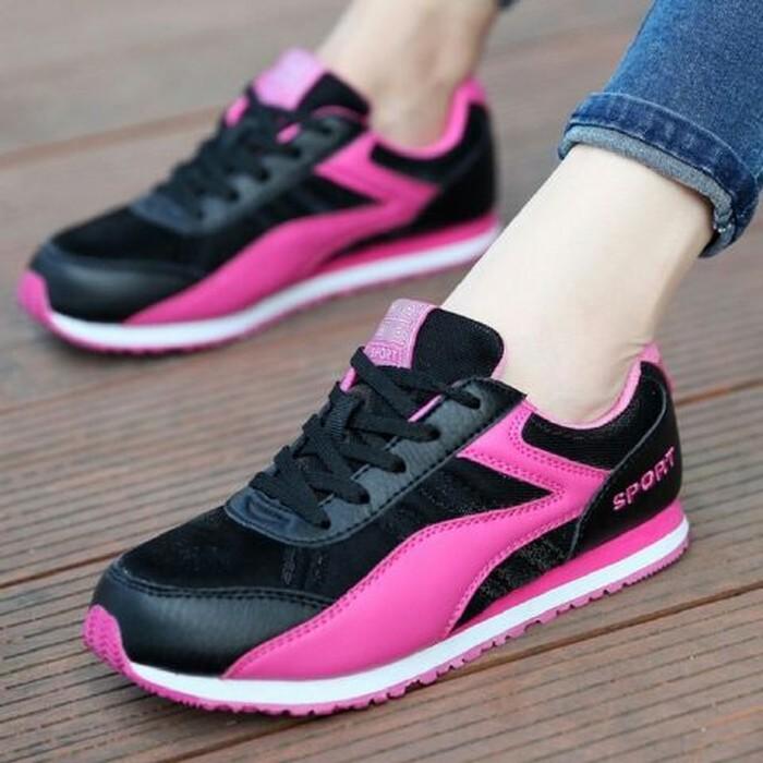 jual Sepatu Wanita Kets Casual SDS241 PINK