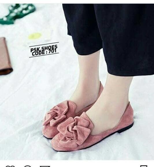 jual Sepatu Wanita Flat Shoes Bunga SDB92