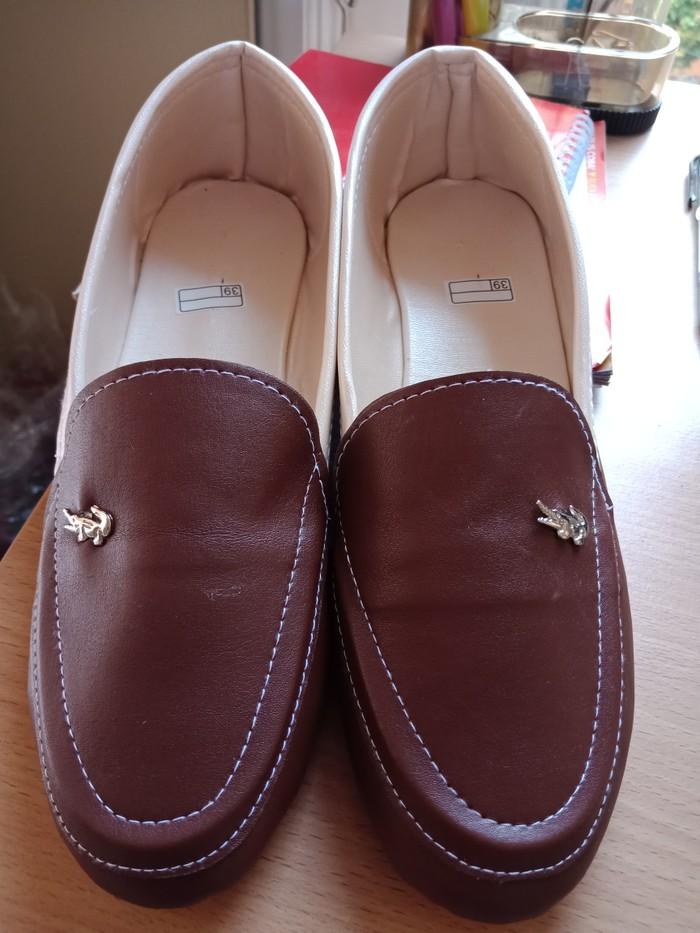 jual Sepatu Flat Shoes Wanita Crocodile SDB99 Coklat