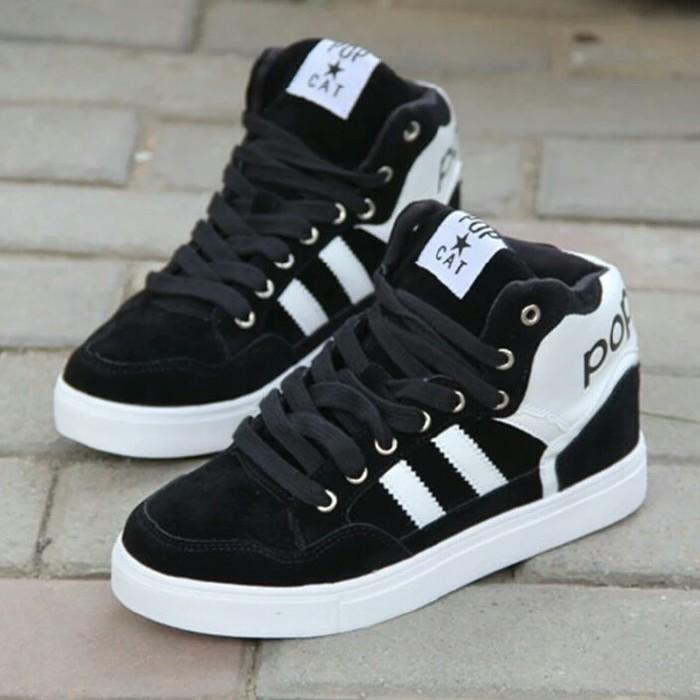 jual Sepatu Boots Wanita Popcat SBO330 Hitam